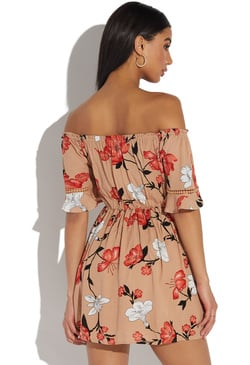 b64637ed8e9 CINCHED WAIST FLORAL DRESS CINCHED WAIST FLORAL DRESS. Low Stock