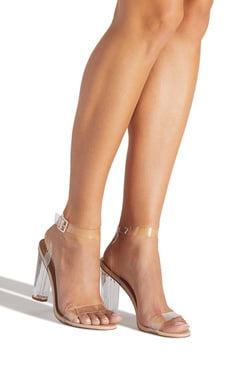 42ecc4eb86 HANNA TRANSPARENT HEELED SANDAL ...