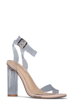 HANNA TRANSPARENT HEELED SANDAL