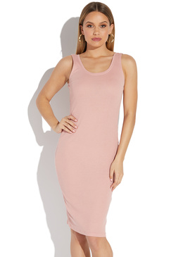 64954c4492a7 MIDI LENGTH RIB BODYCON DRESS ...