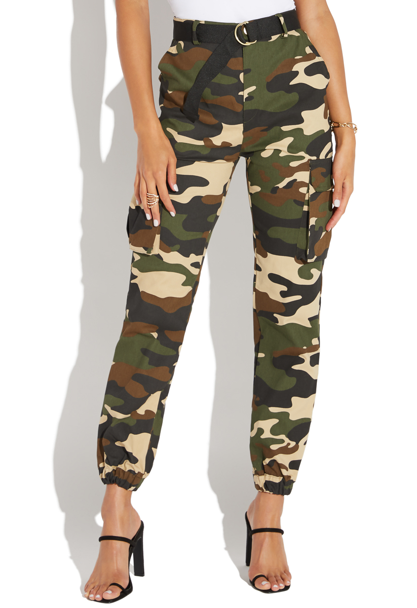 negozio online 6474f 7a616 BELTED CAMO CARGO PANT