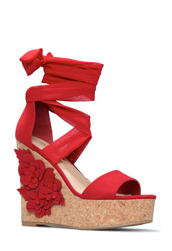 ROSEMARIE CORK WEDGE SANDAL