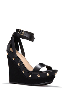 VEYDA STUDDED ESPADRILLE WEDGE