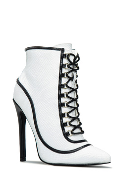 DANGEROUS LACE UP BOOTIE