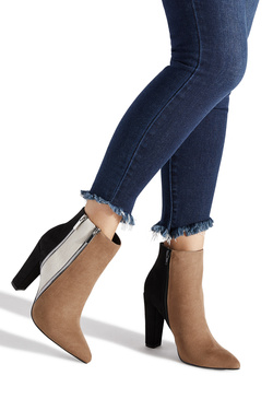 DIANE ZIPPER HEELED BOOTIE