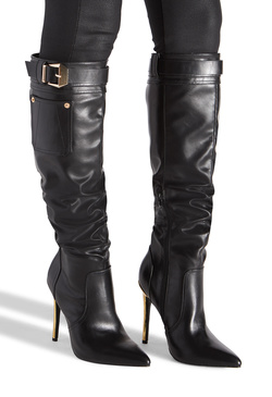 BUCKLED BUCKLE STRAP BOOT