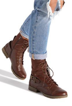 GRETA LACE UP BOOTIE