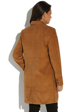 BUTTON FRONT COAT