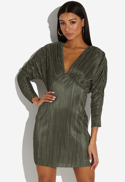 PLEATED DOLMAN DRESS