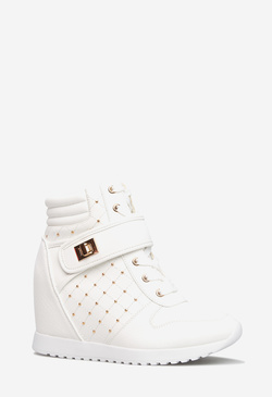 RAMOANA STUDDED WEDGE SNEAKER