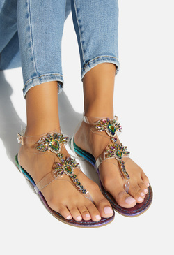KILEE JEWELED CLEAR SANDAL