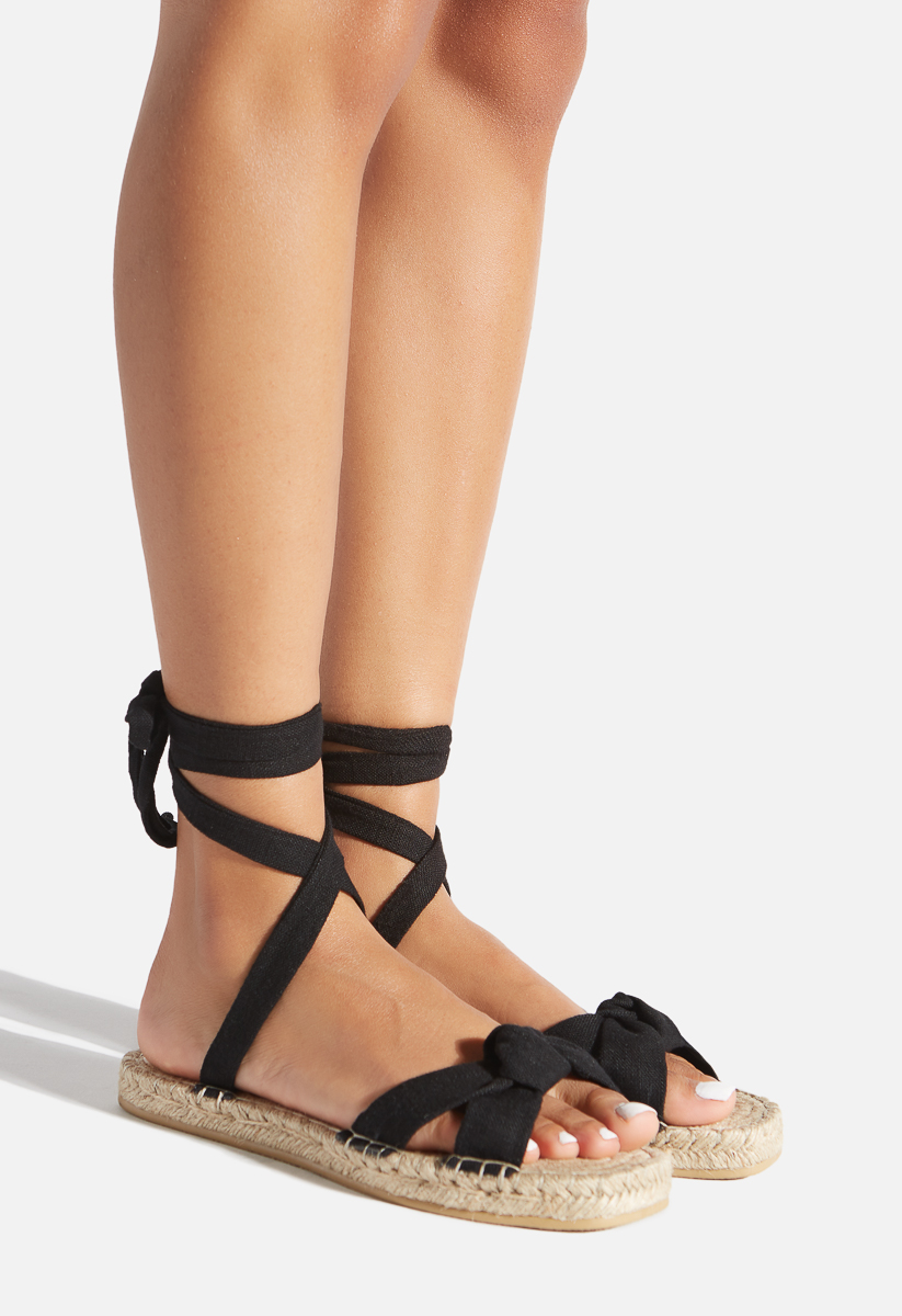 KIMBLYN ESPADRILLE FLAT SANDAL - ShoeDazzle